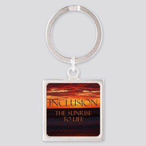 sunrise-a Square Keychain