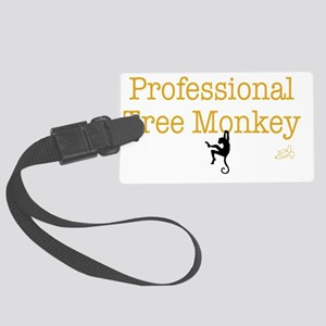 tree monkey Large Luggage Tag