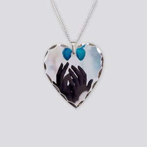 JUST LET GO Necklace Heart Charm