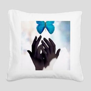 JUST LET GO Square Canvas Pillow