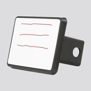 I fly planes-white Rectangular Hitch Cover