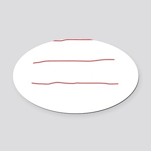 I fly planes-white Oval Car Magnet