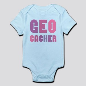 Geocacher Arrows Pink Baby Light Bodysuit