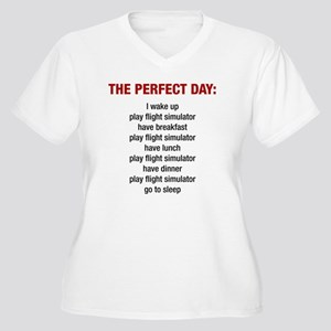 Perfect Day Women's Plus Size V-Neck T-Shirt