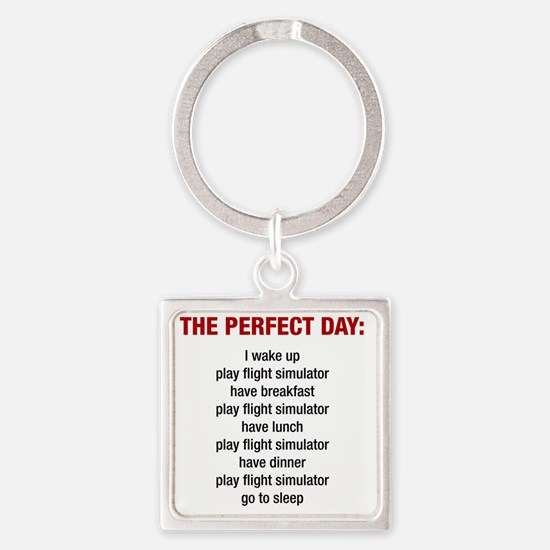 Perfect Day Square Keychain
