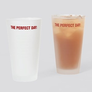 Perfect Day White Drinking Glass