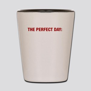 Perfect Day White Shot Glass