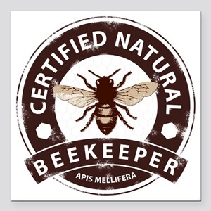 """Certified Natural Beekee Square Car Magnet 3"""" x 3"""""""