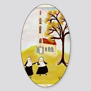 LOVE THY SISTERgreeting Sticker (Oval)