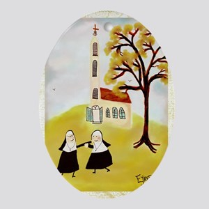 LOVE THY SISTERgreeting Oval Ornament