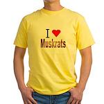 I love Muskrats Yellow T-Shirt