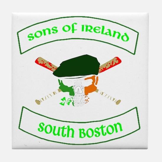 master logo southie Tile Coaster
