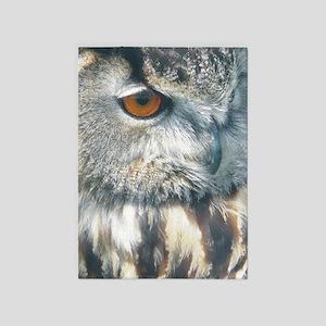 owl ipad 5'x7'Area Rug