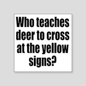 "deer1 Square Sticker 3"" x 3"""