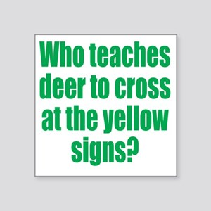 "deer2 Square Sticker 3"" x 3"""