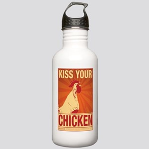 Kiss Chicken (4poster) Stainless Water Bottle 1.0L