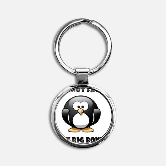 Fat Penguin Round Keychain