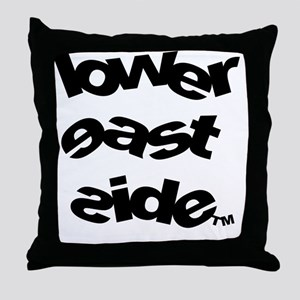 LOWER_EAST_SIDE_SLANTED_LOGO_copy Throw Pillow