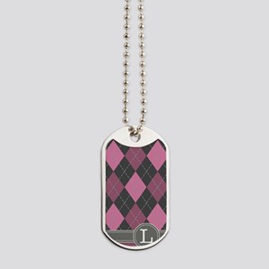 441_argyle_monogram_rose_l Dog Tags