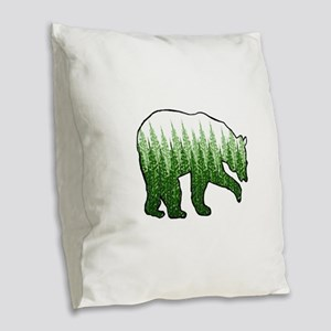 FOREST Burlap Throw Pillow