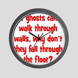 ghosts2 Wall Clock