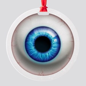16x16_theeye_electric Round Ornament
