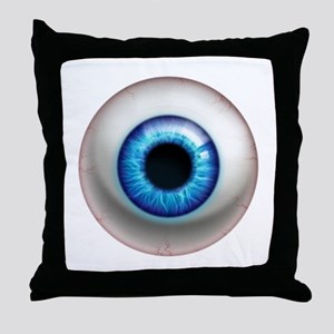 16x16_theeye_electric Throw Pillow
