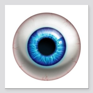 """16x16_theeye_electric Square Car Magnet 3"""" x 3"""""""