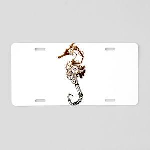 Industrial Sea Horse Aluminum License Plate