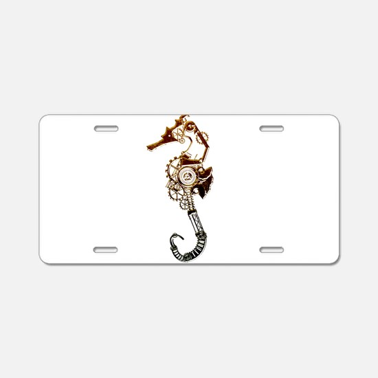 Industrial Sea Horse Aluminum License Plate