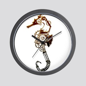 Industrial Sea Horse Wall Clock