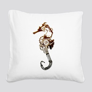 Industrial Sea Horse Square Canvas Pillow