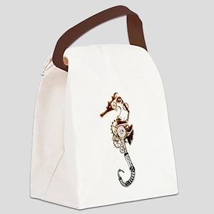 Industrial Sea Horse Canvas Lunch Bag