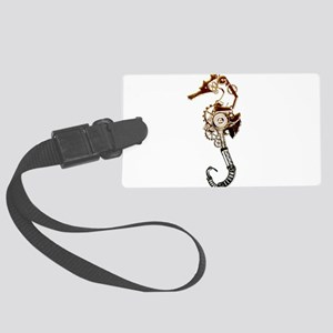 Industrial Sea Horse Large Luggage Tag