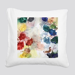 Watercolor Tutus Square Canvas Pillow