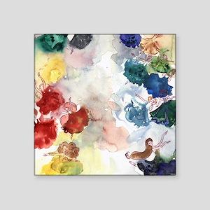 """Watercolor Tutus Square Sticker 3"""" x 3"""""""