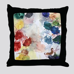 Watercolor Tutus Throw Pillow