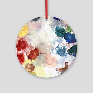 Watercolor Tutus Round Ornament