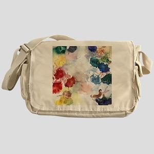Watercolor Tutus Messenger Bag
