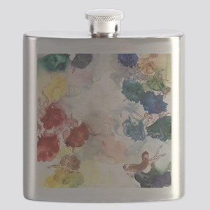 Watercolor Tutus Flask
