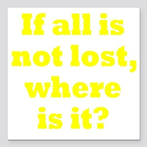 "lost3 Square Car Magnet 3"" x 3"""