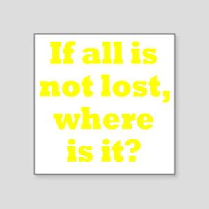 """lost3 Square Sticker 3"""" x 3"""""""