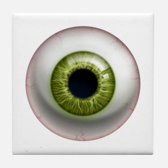 16x16_theeye_green Tile Coaster