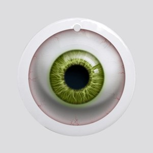 16x16_theeye_green Round Ornament