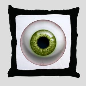 16x16_theeye_green Throw Pillow