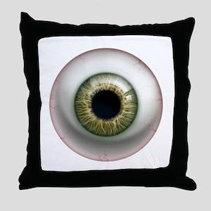 16x16_theeye_hazel Throw Pillow