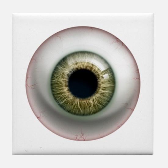 16x16_theeye_hazel Tile Coaster