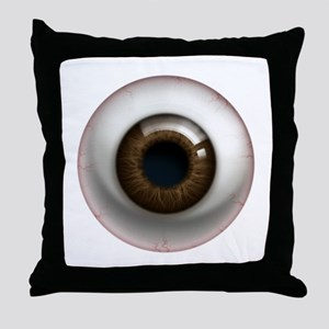 16x16_theeye_browndark Throw Pillow