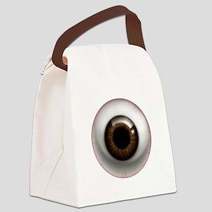 16x16_theeye_browndark Canvas Lunch Bag