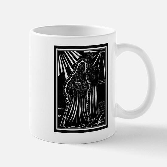 Black And White Christmas Nativity Mug
